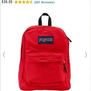 Red Mini jansport backpack